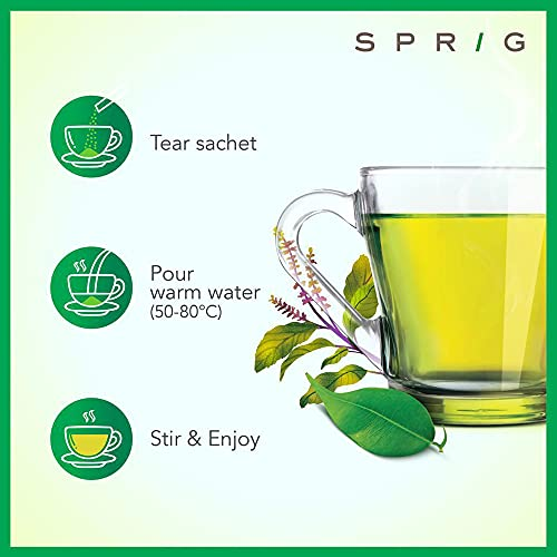 Sprig TE.A Uni TEA   Assorted Green Tea Pack   Green Teas infused with of Tulsi, Lemon & Honey, Ginger and Moroccan Mint   Immunity Boosting  …
