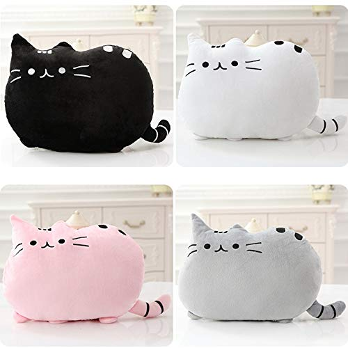 GSDJU Kawaii Cat Pillow with PP Cotton Inside Biscuits Kids Toys Doll Plush Baby Toys Big Cushion Cover Peluche Gift for Friends Kids