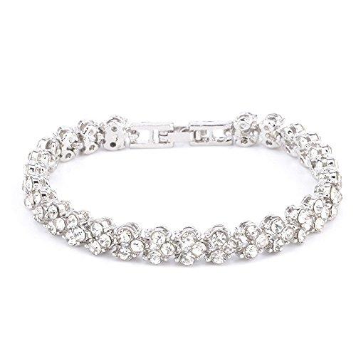 Lialbert Armband Damen,Diamant ArmbäNder Rosegold Armreif Silber SchöNe Schmuck Kette FüR Freundin Zarte Armkette (silber)