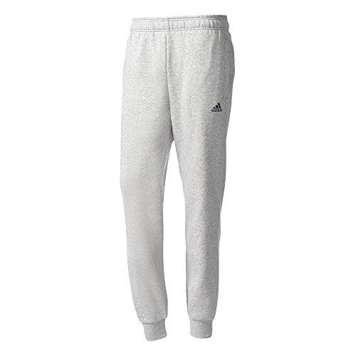 adidas Herren Essentials Tapered Fleece Hose, Medium Grey Heather/Collegiate Navy, L