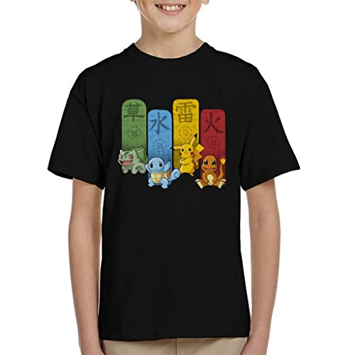 Cloud City 7 Elemental Kanji Monsters Kid's T-Shirt