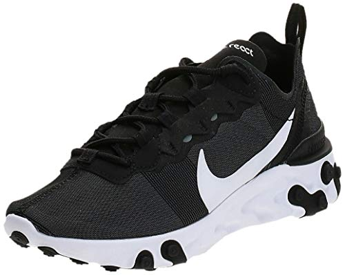 Nike React Element 55 Damen Schuhe,Schwarz (Black/White 003), 37.5 EU