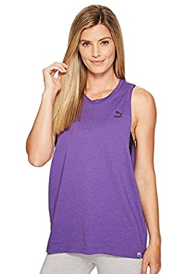 PUMA Women's Archive Logo Tank Top, Royal Purple, Medium