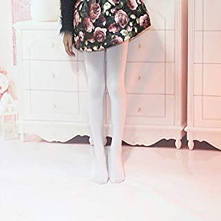 Socks Spring Summer Autumn Solid Color Pantyhose Ballet Dance Tights for Kids(White) Outdoor & Sports (Color : White)
