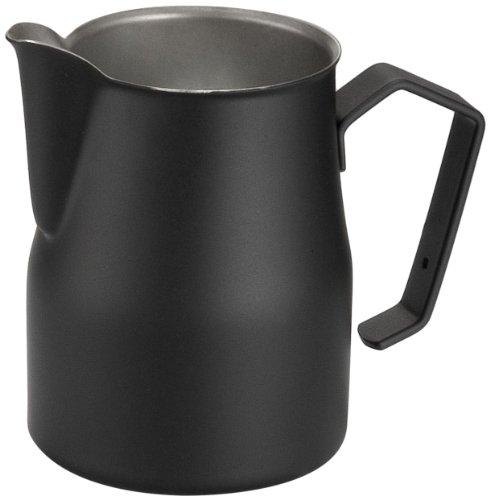 Motta Europa - Bricchetto per Latte, Professionale, Antiaderente 350ml Nero