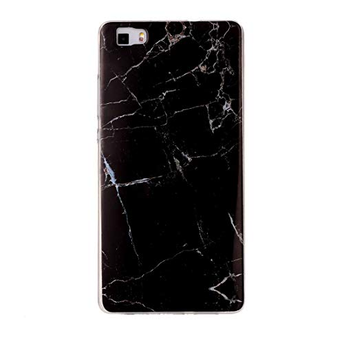 Dmtrab para Para Huawei P8 Lite Black Marring Pattern Soft TPU Funda Protectora. (Color : Color1)