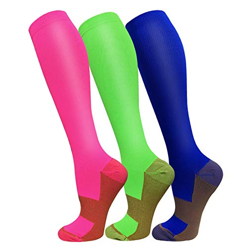 3 Pack Copper Compression Socks - Compression...