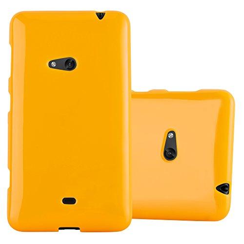 Cadorabo Hülle für Nokia Lumia 625 - Hülle in Jelly GELB – Handyhülle aus TPU Silikon im Jelly Design - Silikonhülle Schutzhülle Ultra Slim Soft Back Cover Case Bumper