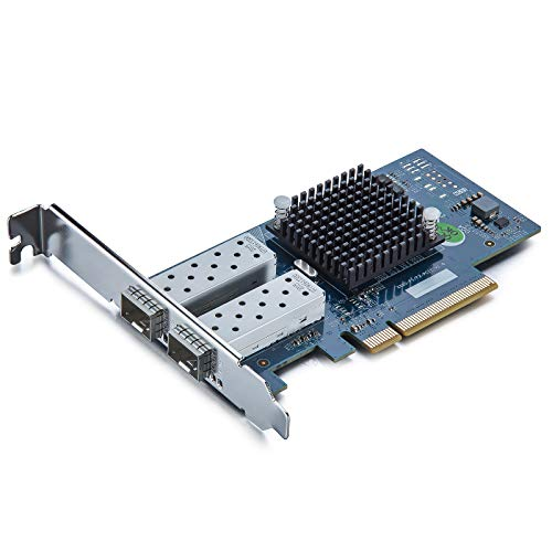 10Gtek® 10GbE PCIE Tarjeta de Red para Intel X520-DA2/ X520-SR2-82599ES Chip, Dual SFP+ Puertos, 10Gbit PCI Express x8 LAN Adapter, 10Gb Nic para Windows Server, Win8, 10, Linux, 3-Year Warranty