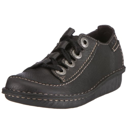 Clarks Funny Story 20337700 Damen Halbschuhe, EU 35.5 schwarz (Black Leather) (UK 030)