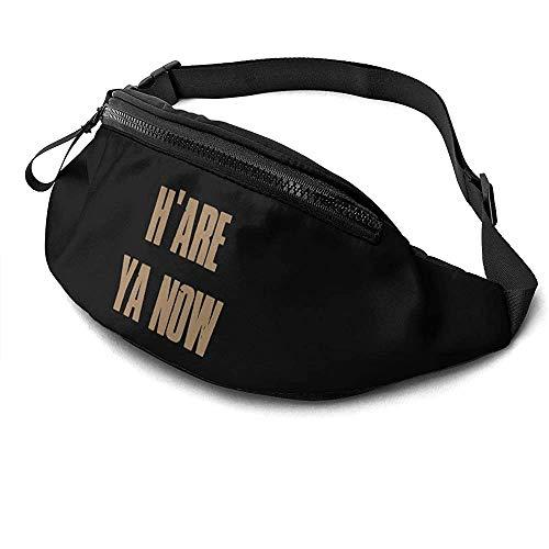 H 'are Ya Now Runner' S Fanny Bag Waist Pack Réglable Sangles Poche avec Prise Casque pour Unisexe