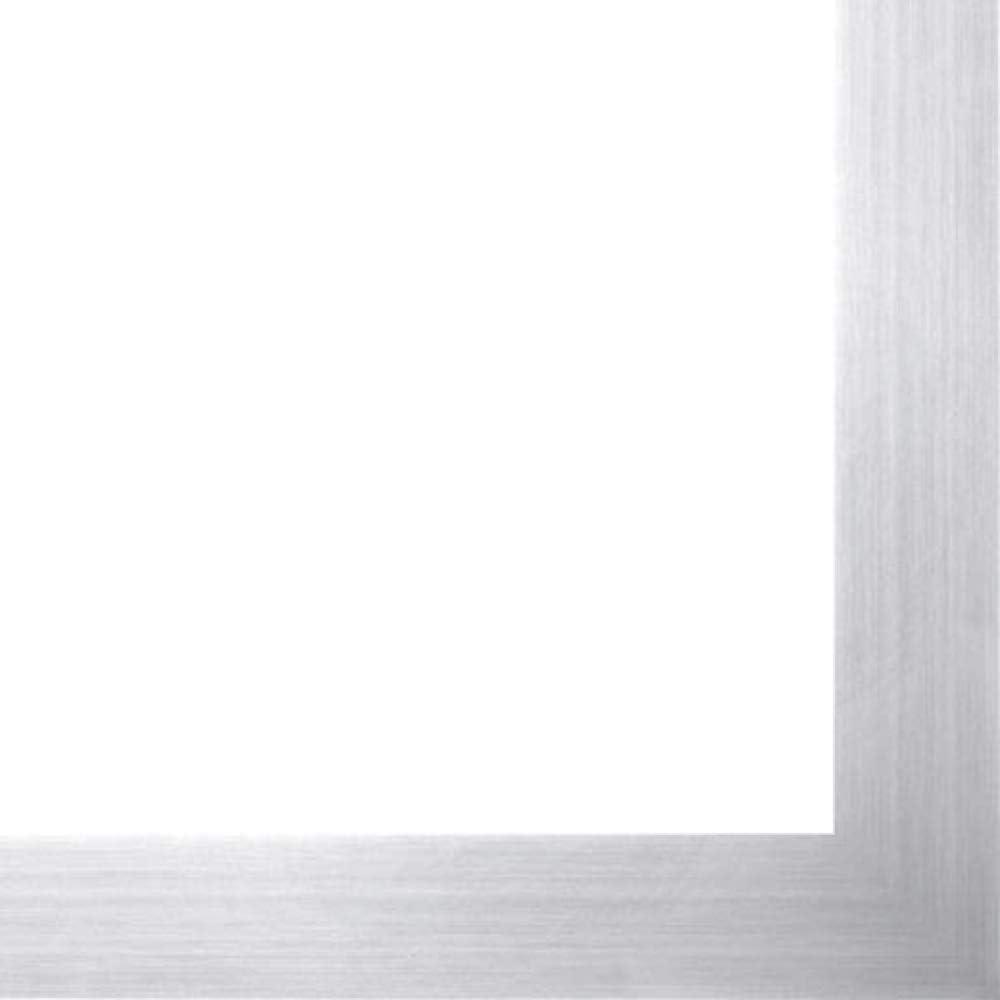12x18 Silver Sale Metallic Wood Frame Steel' - Great 'Brushed Thin Virginia Beach Mall