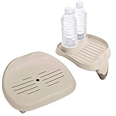 Intex Seat for Inflatable PureSpa Hot Tub + PureSpa Cup Holder & Tray Accessory