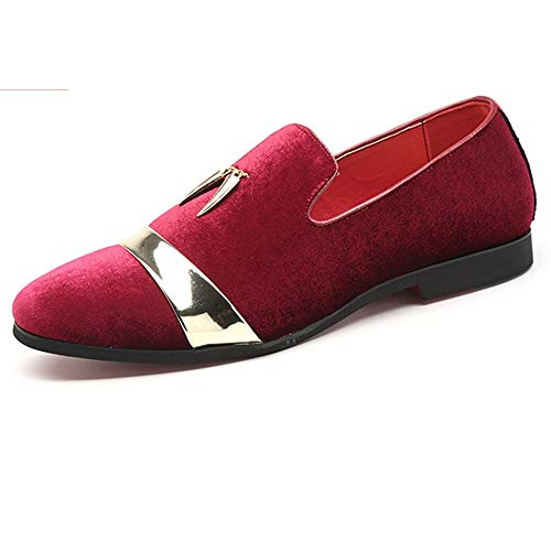 Cicongzai Oxford-kwasten voor heren van Nederlandse schoenen met metalen versiering, antislip, glinsterende pailletten