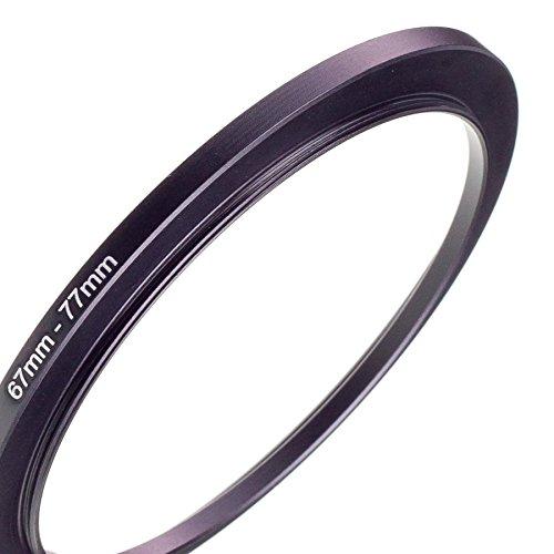 LUMOS 67-77 Step up Filteradapter Ring - Metall Filter Adapterring von Kamera Objektiv mit 67mm Filtergewinde auf 77mm Zubehör