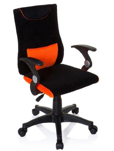 hjh OFFICE 670480 Kinderdrehstuhl Bürostuhl KIDDY PRO AL orange, ganz besonders ideal für Schulanfänger, kindgerechte Ausführung, ergonomischer Kinderschreibtischstuhl, Kinderbürostuhl höhenverstellbar