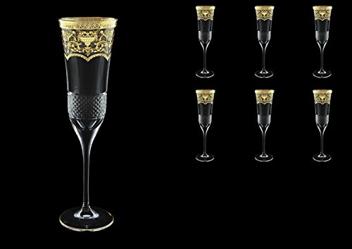 Exclusive Bohéme Cristal Fiesole Champagne Flutes 170ml 6pcs in Flora's Empire