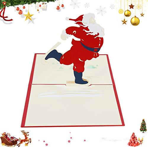 Weihnachten Karten,3D Pop Up Weihnachtskarten, Klappkarten Grußkartenfür Frohe Weihnachten,Weihnachten Karten personalisiert,Klappkarten,Grußkarten,Handmade Weihnachtsgrußkarte-Frohe Weihnachten (C)