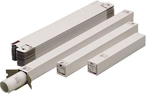 Pressel® Versandhülse, A2, Karton, Steckverschluss, 75 x 75 mm, Länge: 500 mm, weiß (20 Stück), Sie erhalten 1 Packung á 20 Stück
