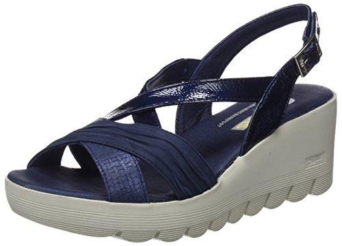 24 HORAS 23626, Sandalias con Plataforma Mujer, Azul (Marino 5), 37 EU