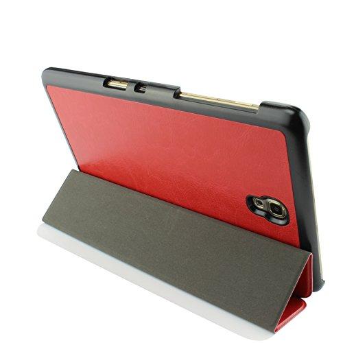 Urcover® Schutzhülle kompatibel mit Samsung Galaxy Tab 8.4 Smart Cover Case in Rot [ mit Standfunktion und Sleep Wake ] Etui Schale