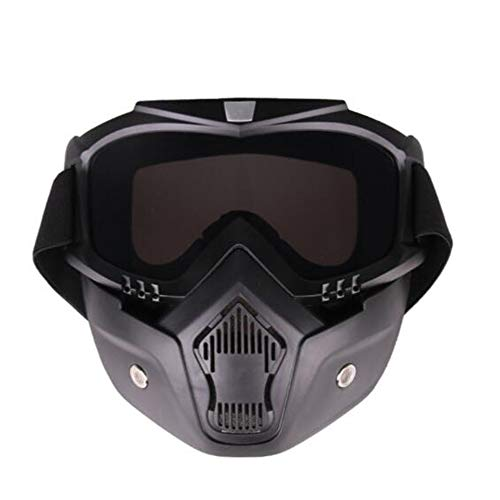 Motorbril/afneembare maskerbril, sportieve dual pane, anti-condens-bril, gepolariseerde motorfietsbril, zwart frame, outdoor activity sport