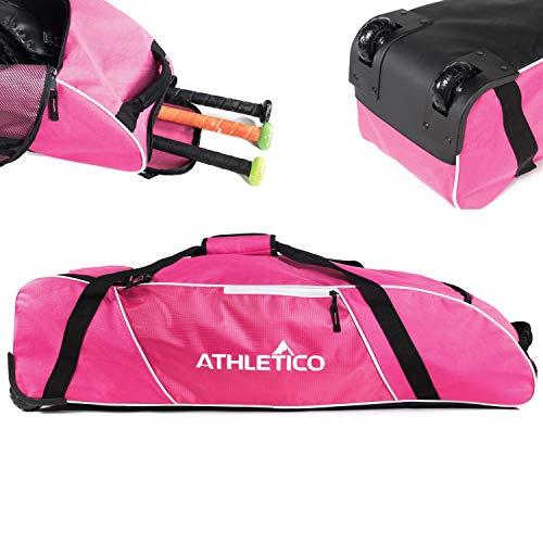 Athletico Rolling Baseball Bag - Wheeled Baseball...