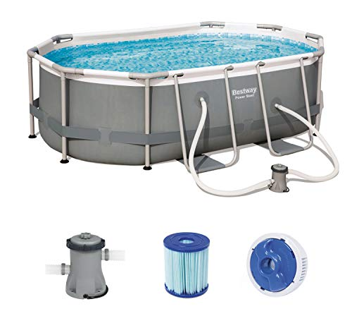 Bestway 56617 de GS19 Power Steel Pool 300 x 200 x 84 cm, Ovalado Marco de Acero...