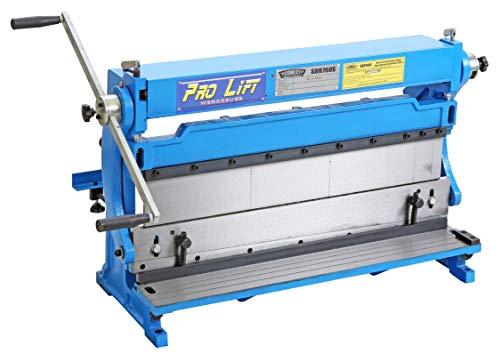 Pro-Lift-gereedschappen blikbewerkingsmachine 3in1 760mm x 1,0 mm ronde buigmachine hoekbank universele buigmachine hoek-Biegenschine handmatig hoekbank snijden