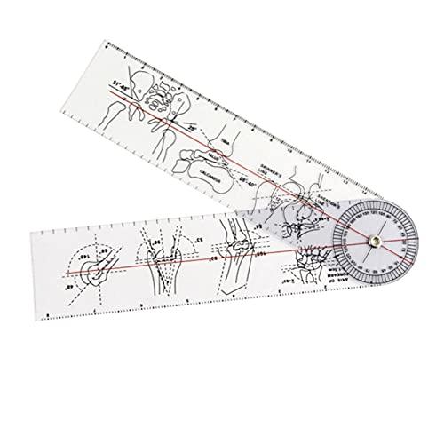 Uadme Regla ortopédica, Regla médica de ángulo de goniómetro de 15 cm, Herramienta ortopédica para Juntas, Instrumentos, transportador