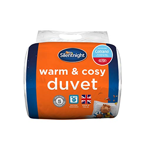 Silentnight Warm and Cosy Duvet 15 Tog Duvet Deluxe with Dupont, White –SUPERKING