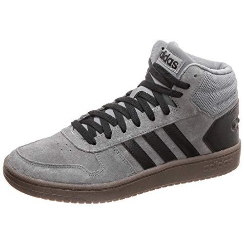 adidas Herren Hoops 2.0 MID Basketballschuhe, Mehrfarbig (Grey Four F17/Core Black/Core Black Ee7367), 44 EU