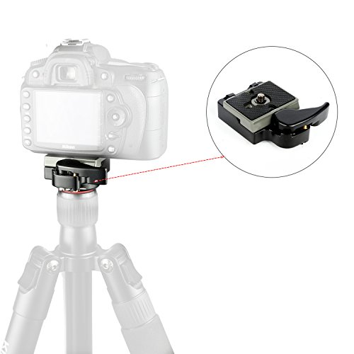 "Camera Tripod Quick Release QR Plate Adapter with 1/4""-3/8"" Screw for Camera Camcorder Tripod Monopod Ball Head"