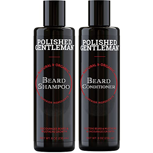 Beard Shampoo and Conditioner Set - Beard Wash and Conditioner for Men With Biotin & Tea Tree - Mens Best Beard Conditioner With Beard Oil - Beard Growth Kit For Men - Beard Softener - Made In USA