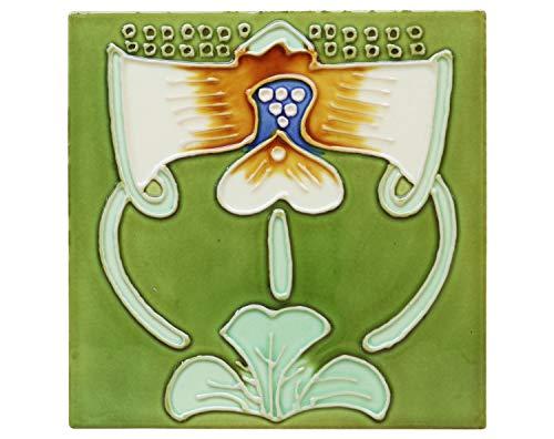 aubaho 10x Fliese handbemalt Kachel Replika Antik-Stil Jugendstil Set (s)