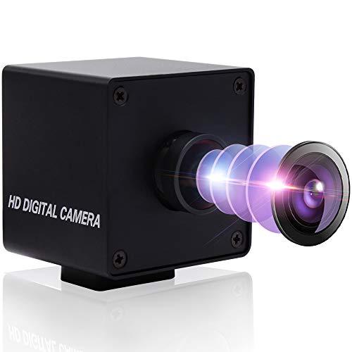 SVPRO Ultra HD 4K Computer Kamera 30pfs USB Webcam mit 170° Objektiv, UHD Mini Kamera 3840x2160 Sony IMX317 Sensor Plug&Play UVC Kamera mit Metallgehäuse für Mac Android Linux Windows