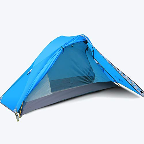 Outdoor Tent 2 Person Camping Tent With Aluminum Alloy Pole Rainproof Separated Double Layer Anti-Uv Outdoor Tent A