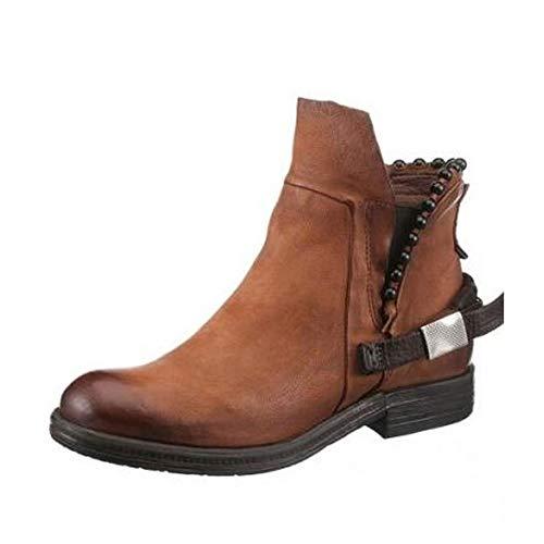 A.S.98 Airstep Damen Leder Stiefeletten Stiefel Schuhe Cognac Braun Schuhgröße EUR 36