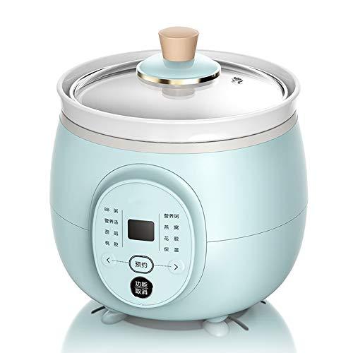 Slow Cooker 2L Elektrischer Eintopf Pot,Haushalts Multikocher Mit Warmhaltefunktion Und Terminfunktion Geeignet Ideal Für Kleine Haushalte
