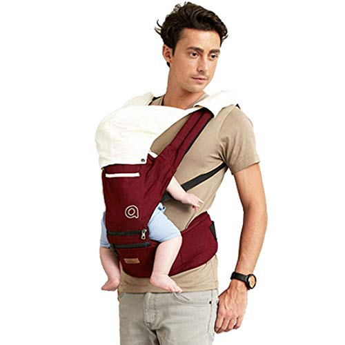 Carrinho de bebê 3 em 1 ergonômico mochila respirável e macio urdidura para bebês para bebês e crianças pequenas 0-36 meses conversível