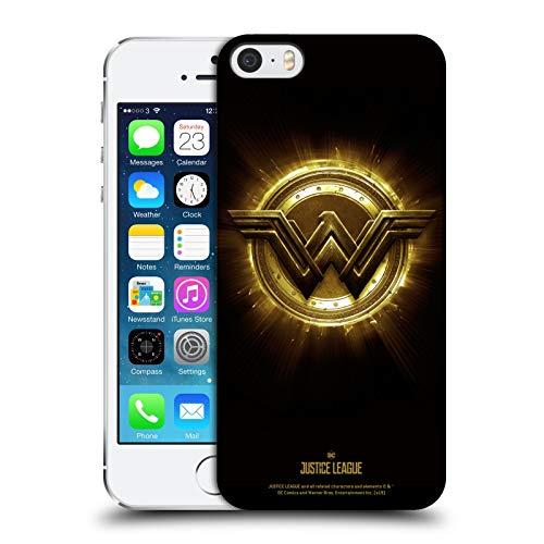 Head Case Designs Licenza Ufficiale Justice League Movie Wonder Woman 2 Logos Cover Dura per Parte Posteriore Compatibile con Apple iPhone 5 / iPhone 5s / iPhone SE 2016