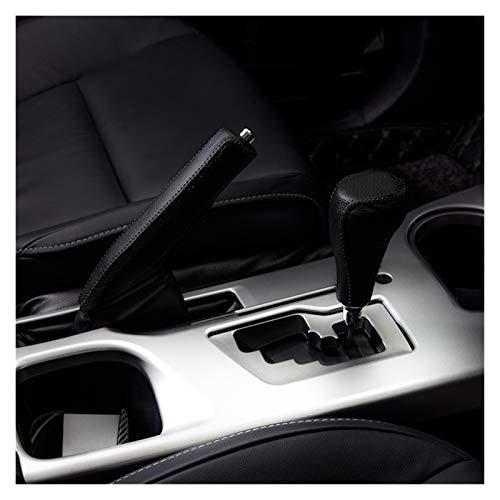 CLEIO Adatta per Toyota Rav4 Rav 4 2016 2017 Pelle Center Console Gear Shift Decorative Sleeve Sleeve Grappa di Protezione Accessori Accessori Auto (Color Name : Black)