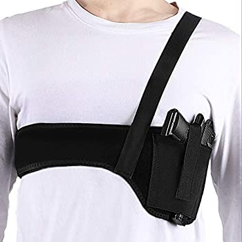 Deep Concealment Shoulder Holster Accmor Universal Underarm Gun Holster for Men and Women Elastic Neoprene Concealed Carry Holster Waistband Belt  45 inch  Right Hand Draw