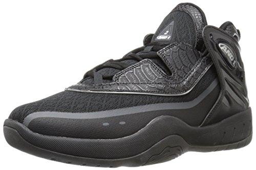 AND1 Herren M-2 Basketballschuhe, Schwarz (Black/Black/Silver), 41 EU