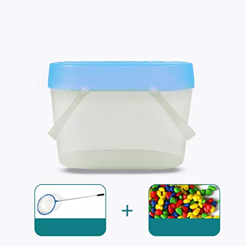 Goldfish Tank Kindergarten Mini Plastic Emmer Slak Frog Crab Bucket Portable Fishing Bucket 26 * 17 * 18.5cm (Color : Blue, Size : #2)