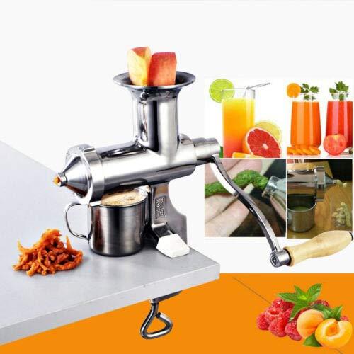 Manuelle Saftpresse - BL30-Edelstahl - für Weizengras und Blattgemüse Fruits