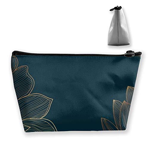 Papier peint de luxe avec lotus doré et fond naturel