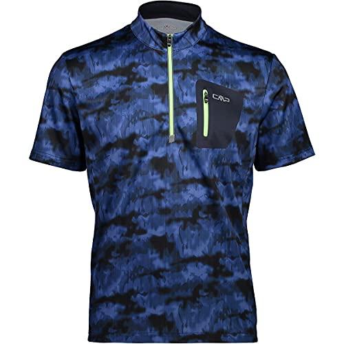 CMP Camiseta de ciclismo para hombre Free, azul/negro, 46