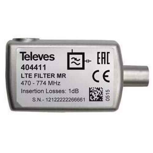 Televes 404411 - Filtro lte cei 470-774mhz c21-58 blister