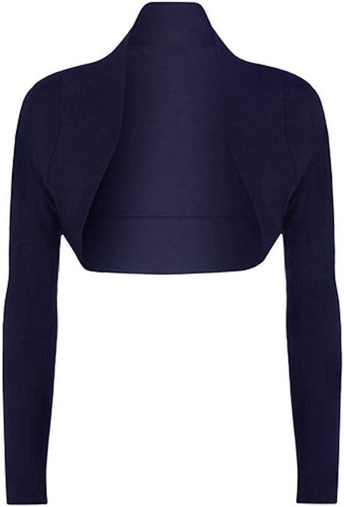 OgLuxe Ladies Long Sleeve Shrug Womens Bolero Cardigan Top Sizes 4-26